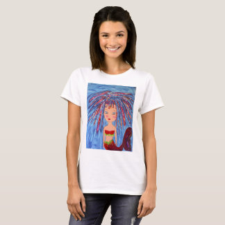 Mixed Media Mermaid Art, original art mermaid T-Shirt