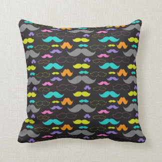 Mixed Mustaches Throw Pillow