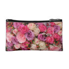 Mixed pastel roses by Therosegarden Cosmetic Bag