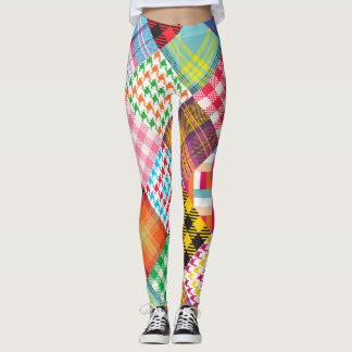 Mixed Patches Pattern Leggings