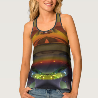 Mixed Patterned Design Tank Top