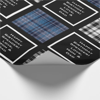 Mixed Plaids Multi Occasion Customizable Wrapping Paper