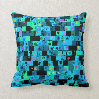 Mixed Pop Art Squares Pillow
