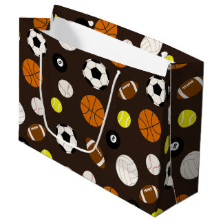 Mixed Sports tiled themed pattern gift bag