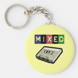 Mixed Tape-Keychain Basic Round Button Keychain