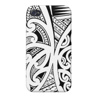 Mixed tattoo styles, Maori, Samoan and Polynesian Cases For iPhone 4
