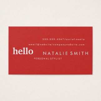 Mixed Text Red Business Card
