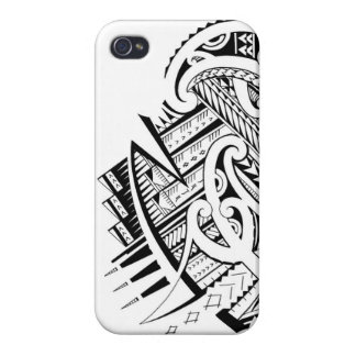 Mixed tribal tattoo design in Maori Samoan style iPhone 4/4S Cases