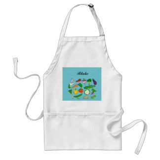 Mixed vegetable personalized apron for him