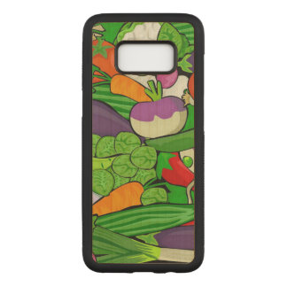 Mixed vegetables carved samsung galaxy s8 case