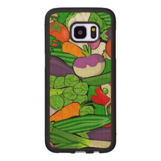 Mixed vegetables wood samsung galaxy s7 edge case
