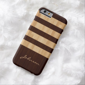 Mixed Wood and Bamboo Stripes - Wood Grain Look Barely There iPhone 6 Case