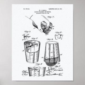 Mixer 1903 Patent Art White Paper Poster