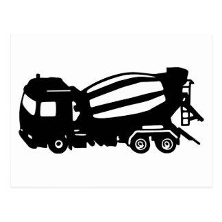mixer truck camion toupie postcard