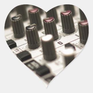 Mixing Board Closeup Heart Stickers