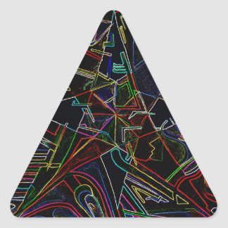 mixing Color star Triangle Sticker