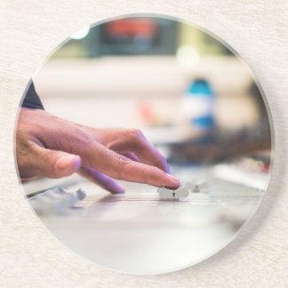 Mixing Desk Mixer Slide Control Slider Disc Jockey Coaster