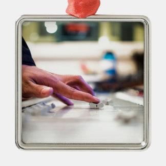 Mixing Desk Mixer Slide Control Slider Disc Jockey Metal Ornament