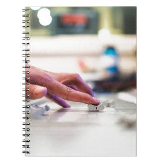 Mixing Desk Mixer Slide Control Slider Disc Jockey Notebooks