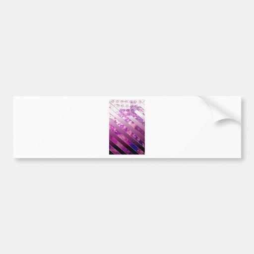 mixing US Flag (Colors). Bumper Sticker