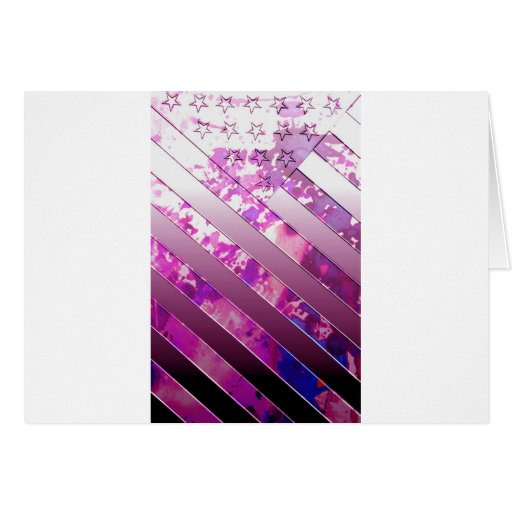 mixing US Flag (Colors). Card