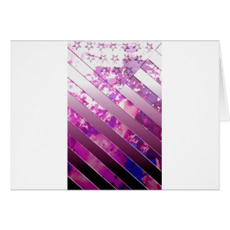 mixing US Flag (Colors). Greeting Card