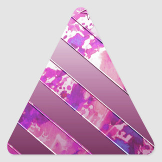 mixing US Flag (Colors). Triangle Sticker