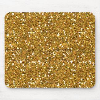 MIXMATCH ROYAL GOLDS GOLDEN WHITE GLITTER BACKGROU MOUSE PAD