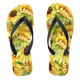 MixNMatch Blooming Beautiful Sunflowers Flip Flops