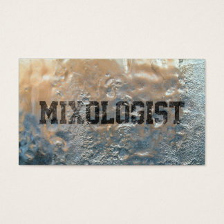 Mixologist Cool Frosted Business Card