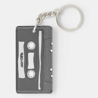 Mixtape Double-Sided Rectangular Acrylic Keychain