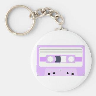 Mixtape - Pastel Purple Basic Round Button Keychain