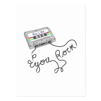 Mixtape - You rock Postcard