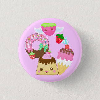 mixture cute kawaii 1 inch round button