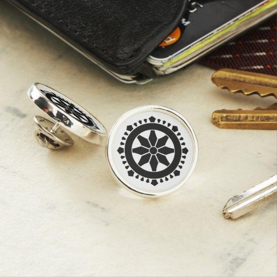 Miyake wheel treasure lapel pin