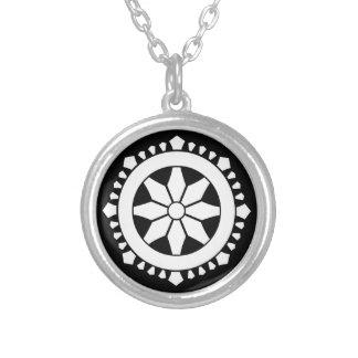 Miyake wheel treasure silver plated necklace