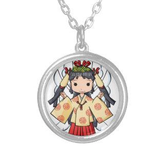 Miyako inThe sky English story Omiya Saitama Silver Plated Necklace