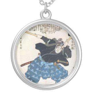 Miyamoto Musashi Painting, c. 1800's Custom Necklace