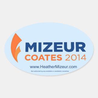 Mizeur Coates 2014 Oval Sticker (Sheet of 4)
