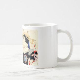 Mizuno Toshikata 水野年方, Courtesan - Asian Art Coffee Mug