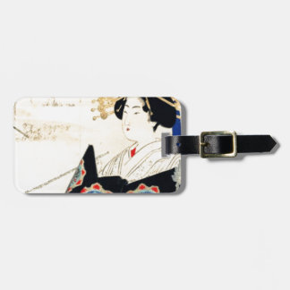 Mizuno Toshikata 水野年方, Courtesan - Asian Art Luggage Tag