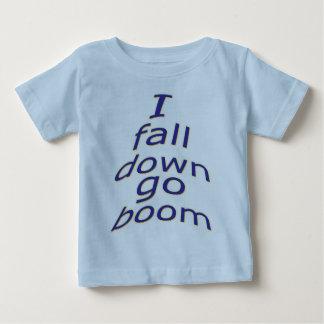 MJ12club*-I fall down go boom-Baby Pix-Googlem Baby T-Shirt