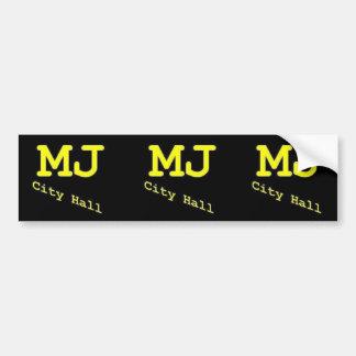 MJ City Hall bumper sticker
