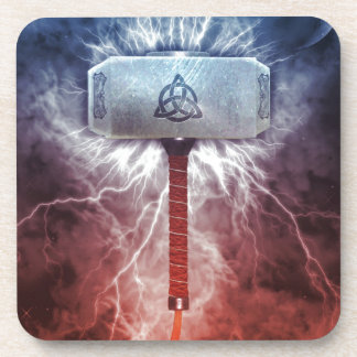 Mjolnir Drink Coasters