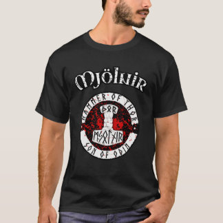 Mjolnir Hammer of Thor Son of Odin God of Thunder T-Shirt