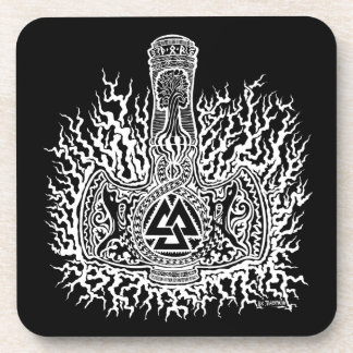 Mjolnir-Valknut Coaster Set of 6