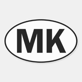 MK Oval Identity Sign Oval Sticker