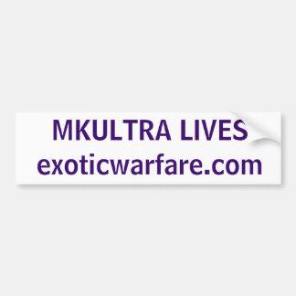 MKULTRA LIVES! exoticwarfare.com Bumper Sticker