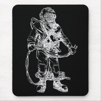 MKV Diver in Black Mouse Pad