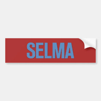 MLK Day-Selma Blue on Red Bumper Sticker